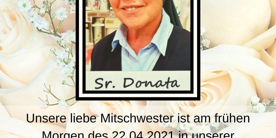 Unsere liebe Mitschwester ist am frühen Morgen am 22.04.2021 in unserer Gemeinschaft in Albano, Italien verstorben.